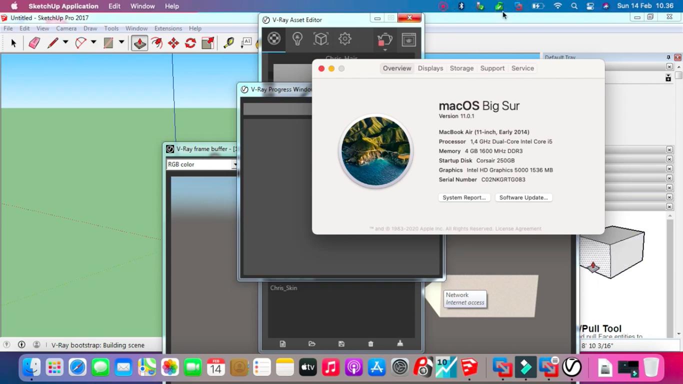 Jual Instal Sketchup Vray Macbook Imac