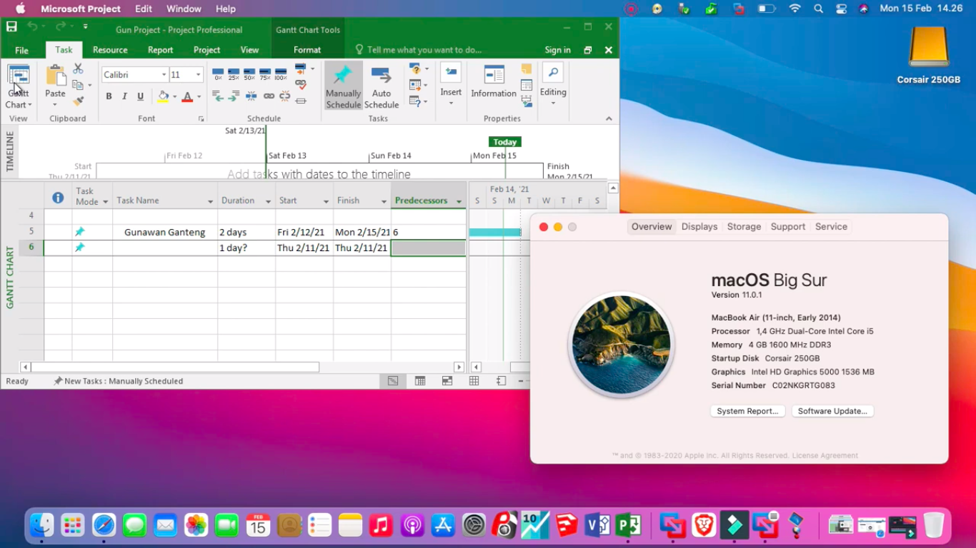 Jual Jasa Instal Software Instal Microsoft Project di Mac Macbook Imac