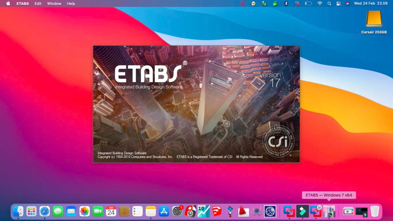 Jual Jasa Instal Program CSI Etabs 17 di Mac Macbook Imac